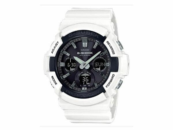 カシオ CASIO Gショック G-SHOCK アナデジ メンズ 腕時計 GAS-100B-7A ホワイト/ブラック色-1