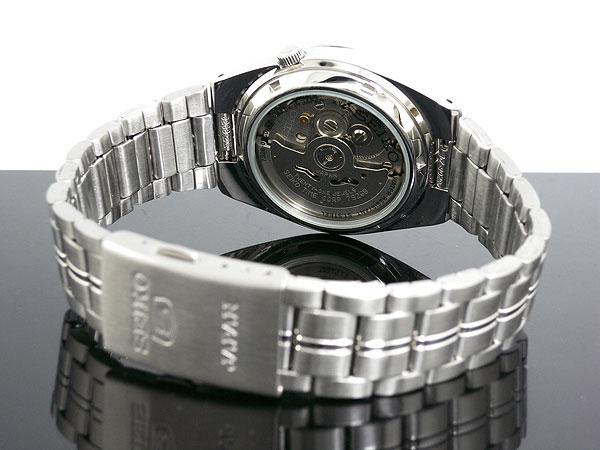 SEIKO 5 セイコー5 逆輸入 日本製 自動巻き メンズ 腕時計 SNK567J1 ブラック×シルバー メタルベルト-3