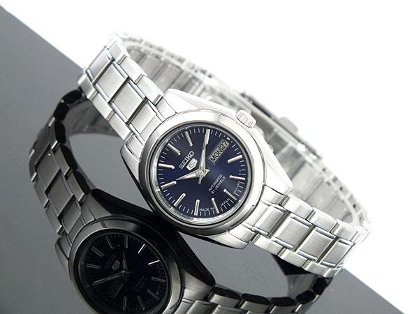 SEIKO 5 セイコー5 海外モデル 日本製 レディース 自動巻き 腕時計 SYMK15J1 ネイビー×シルバー メタルベルト ブレスレット-2