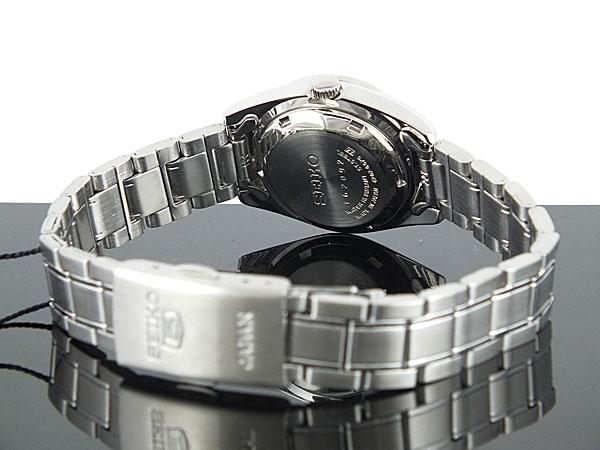 SEIKO 5 セイコー5 海外モデル 日本製 レディース 自動巻き 腕時計 SYMK15J1 ネイビー×シルバー メタルベルト ブレスレット-3