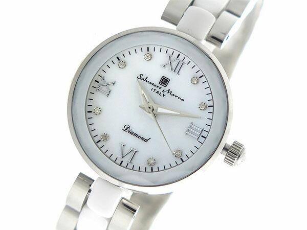 サルバトーレマーラ SALVATORE MARRA クオーツ レディース 腕時計 SM17153-SSWHR ホワイトシェル-1