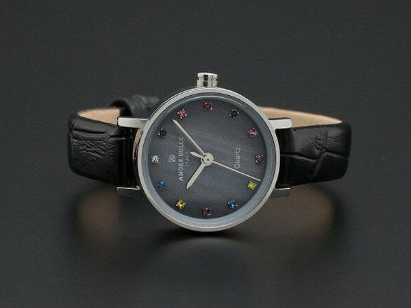 アモーレ ドルチェ レディース 腕時計 AD18301-SSBKBK レザーベルト ブラック-2