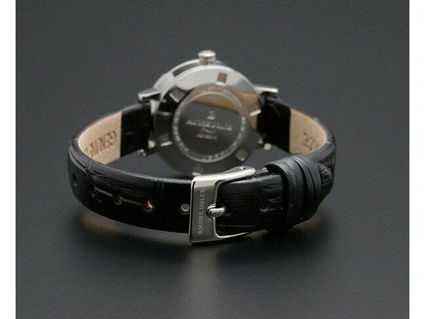 アモーレ ドルチェ レディース 腕時計 AD18301-SSBKBK レザーベルト ブラック-3