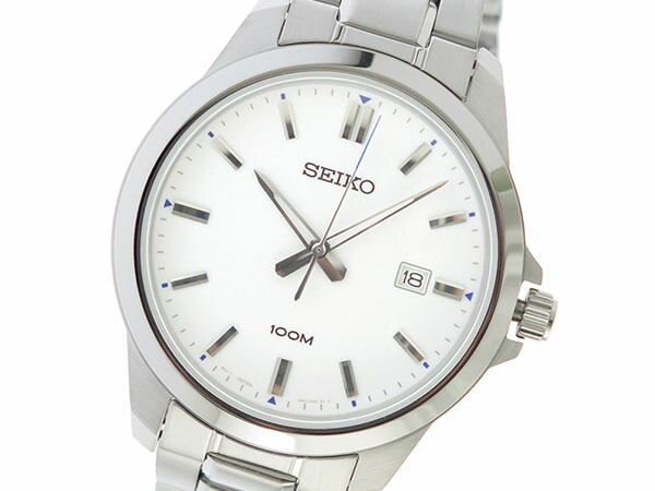 セイコー SEIKO クオーツ メンズ 腕時計 SUR241P1 ホワイト-1