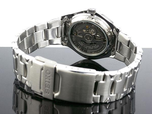 セイコー SEIKO 5 SPORTS 海外モデル 日本製 自動巻き メンズ 腕時計 SNZ447J1 ブルー×シルバー メタルベルト-3