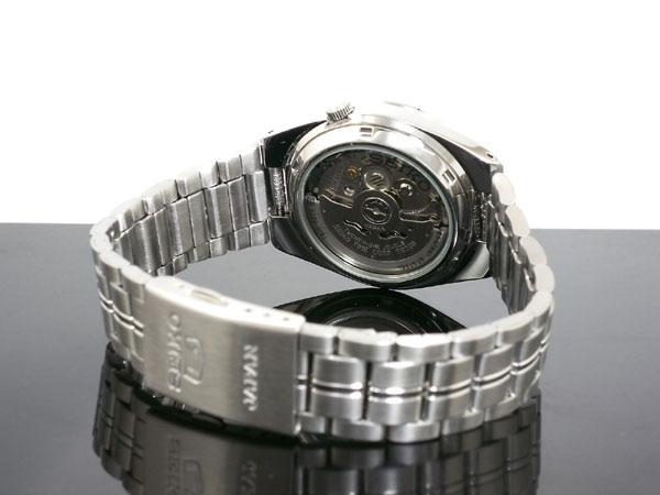 SEIKO 5 セイコー5 逆輸入 日本製 自動巻き メンズ 腕時計 SNK569J1 ブラック×シルバー メタルベルト-3