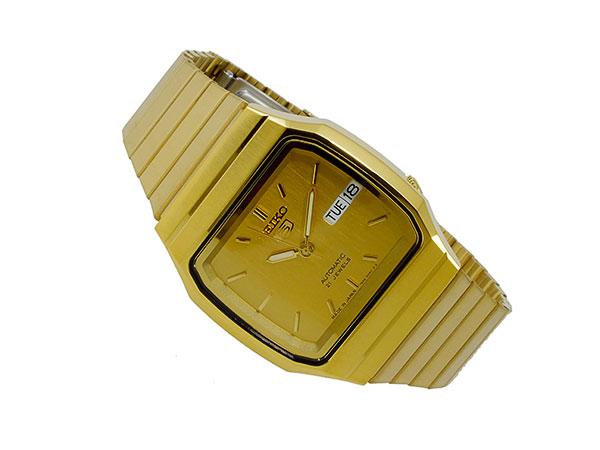 SEIKO 5 セイコー5 逆輸入 日本製 自動巻き メンズ 腕時計 SNXK90J1 ゴールド メタルベルト-2
