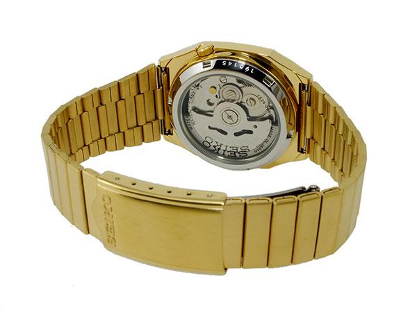 SEIKO 5 セイコー5 逆輸入 日本製 自動巻き メンズ 腕時計 SNXK90J1 ゴールド メタルベルト-3