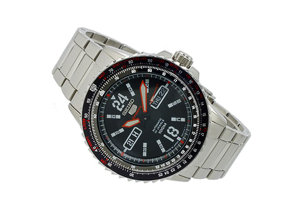 SEIKO 5 SPORTS スポーツ 逆輸入 自動巻き 日本製 メンズ 腕時計 SRP353J1 ブラック×シルバー メタルベルト-2
