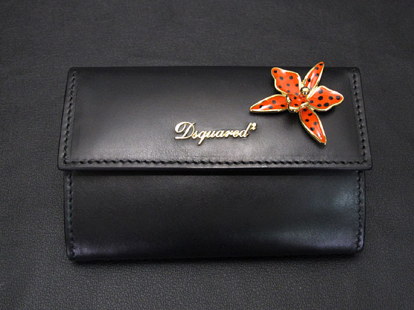 DSQUARED2 ディースクエアード SNAP WALLET SW5001 015 BLACK-1