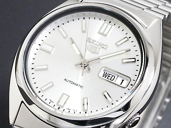 SEIKO 5 セイコー5 逆輸入 自動巻き メンズ 腕時計 SNXS73K シルバー メタルベルト-1