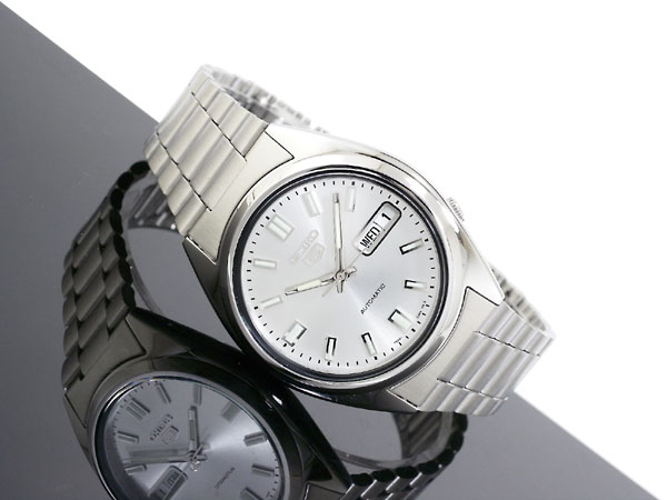 SEIKO 5 セイコー5 逆輸入 自動巻き メンズ 腕時計 SNXS73K シルバー メタルベルト-2