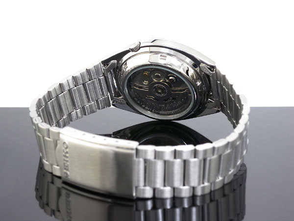 SEIKO 5 セイコー5 逆輸入 自動巻き メンズ 腕時計 SNXS73K シルバー メタルベルト-3
