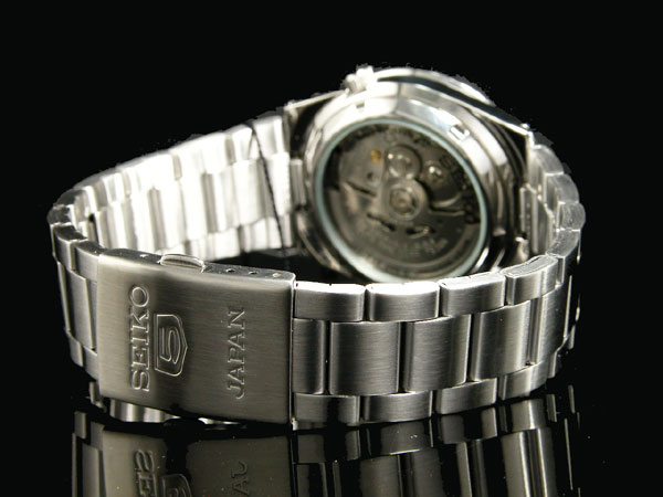 SEIKO 5 セイコー5 逆輸入 日本製 自動巻き メンズ 腕時計SNKD97J1 ホワイト×シルバー メタルベルト-3