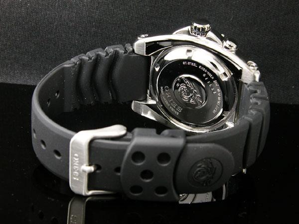 セイコー SEIKO キネティック KINETIC 腕時計 ダイバーズ SKA371P2 メンズ ブラック ラバーベルト-3