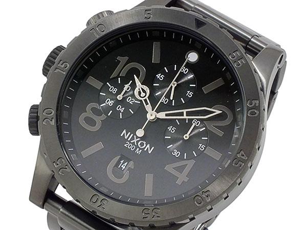 ニクソン NIXON 48-20 クロノグラフ メンズ 腕時計 A486-632 オールガンメタ グレー メタルベルト-1