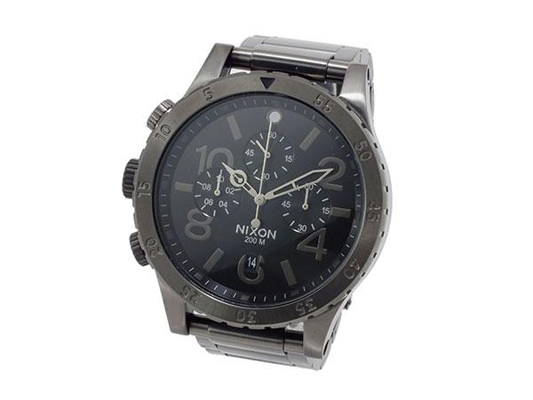 ニクソン NIXON 48-20 クロノグラフ メンズ 腕時計 A486-632 オールガンメタ グレー メタルベルト-2
