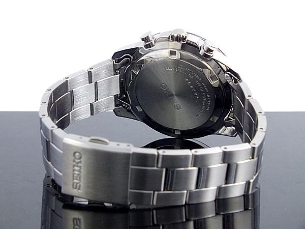 セイコー SEIKO 逆輸入 クロノグラフ メンズ 腕時計 SSB031P1 ブラック×シルバー メタルベルト-3