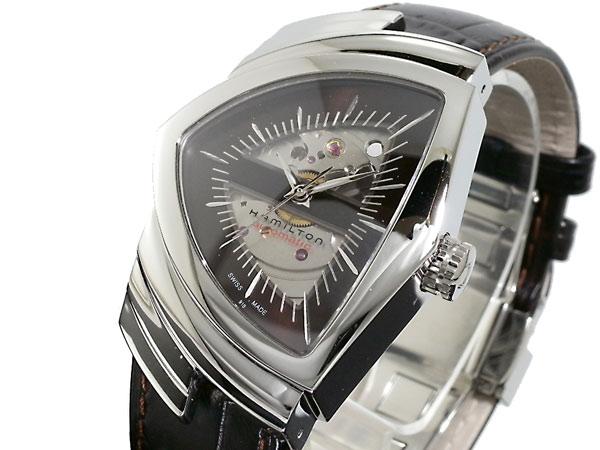 ハミルトン HAMILTON ベンチュラ 自動巻き スイス製 腕時計 H24515591 シルバー×ブラウン レザーベルト-1