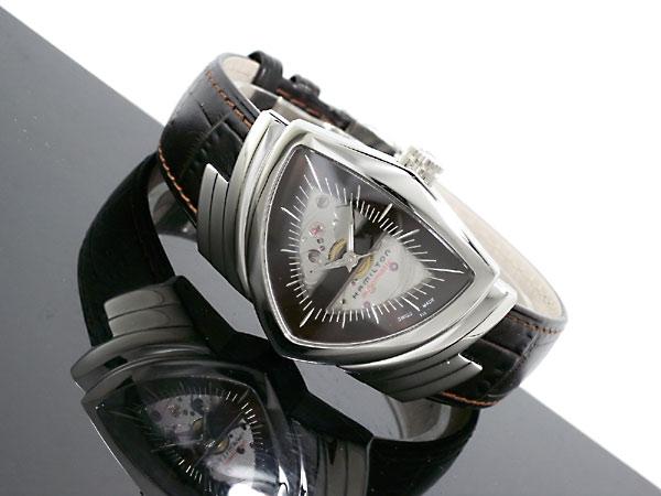 ハミルトン HAMILTON ベンチュラ 自動巻き スイス製 腕時計 H24515591 シルバー×ブラウン レザーベルト-2