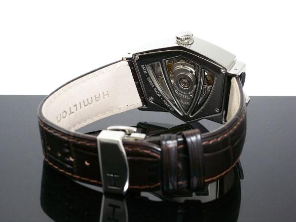 ハミルトン HAMILTON ベンチュラ 自動巻き スイス製 腕時計 H24515591 シルバー×ブラウン レザーベルト-3