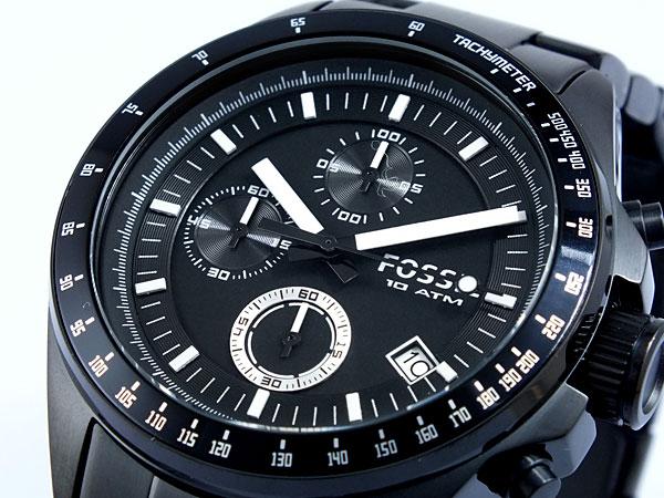 フォッシル FOSSIL クロノグラフ クオーツ 腕時計 CH2601 メンズ ブラック メタルベルト-1