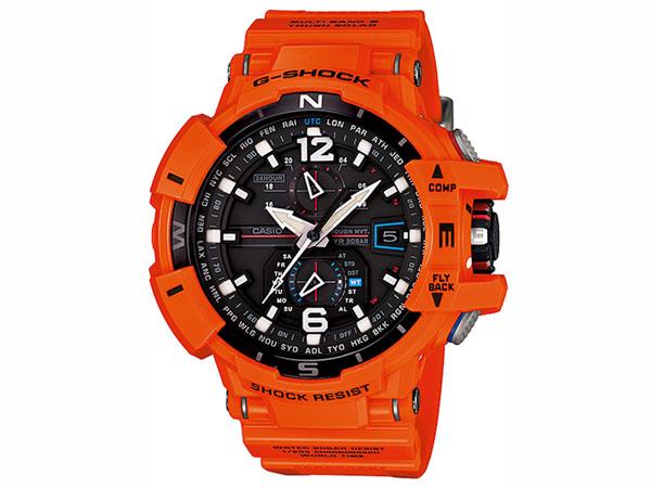 CASIO G-SHOCK 逆輸入 スカイコックピット 電波 ソーラー メンズ 腕時計 GW-A1100R-4A オレンジ ラバーベルト-1