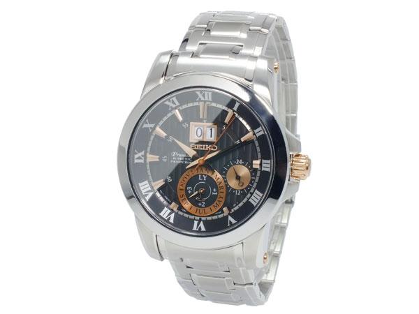 セイコー SEIKO プルミエ 逆輸入 キネティック ビッグデイト パーぺチュアル メンズ 腕時計 SNP098P1 メタルベルト-2