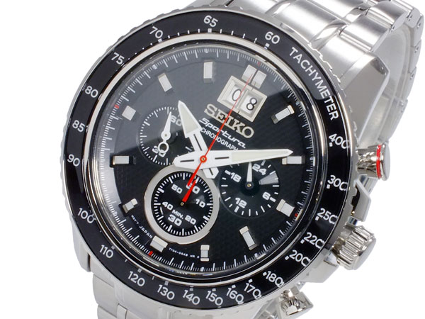 セイコー SEIKO スポーチュラ 逆輸入 クロノグラフ ビッグデイト メンズ 腕時計 SPC137P1 メタルベルト-1