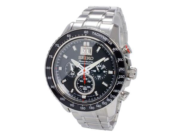 セイコー SEIKO スポーチュラ 逆輸入 クロノグラフ ビッグデイト メンズ 腕時計 SPC137P1 メタルベルト-2