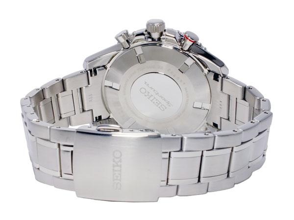 セイコー SEIKO スポーチュラ 逆輸入 クロノグラフ ビッグデイト メンズ 腕時計 SPC137P1 メタルベルト-3