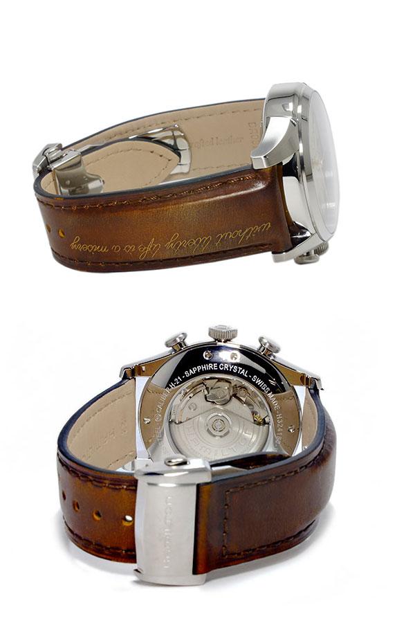 ハミルトン HAMILTON スピリットオブリバティ Spirit of Liberty 自動巻き メンズ クロノグラフ 腕時計 H32416581-3