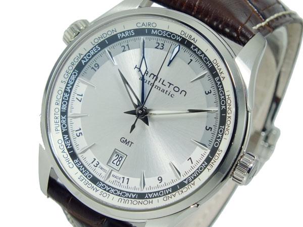 ハミルトン HAMILTON ジャズマスター 自動巻き メンズ スイス製 腕時計 H32605551 シルバー×ブラウン レザーベルト-1