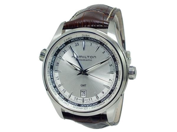 ハミルトン HAMILTON ジャズマスター 自動巻き メンズ スイス製 腕時計 H32605551 シルバー×ブラウン レザーベルト-2