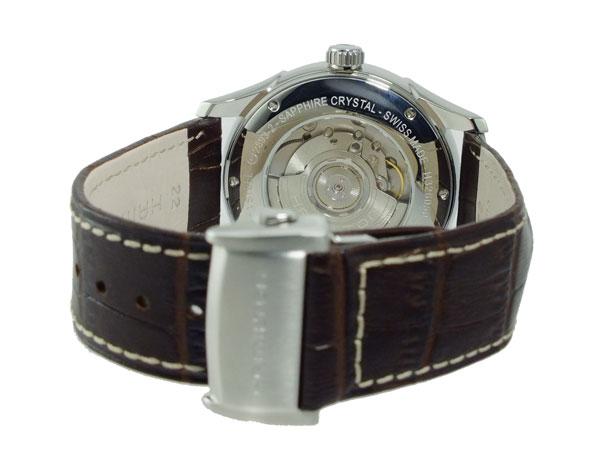 ハミルトン HAMILTON ジャズマスター 自動巻き メンズ スイス製 腕時計 H32605551 シルバー×ブラウン レザーベルト-3