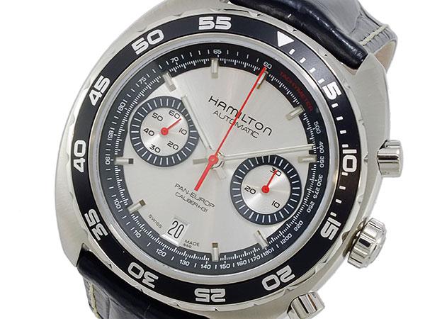 ハミルトン HAMILTON パンユーロ 自動巻き クロノグラフ 腕時計 メンズ H35756755-1