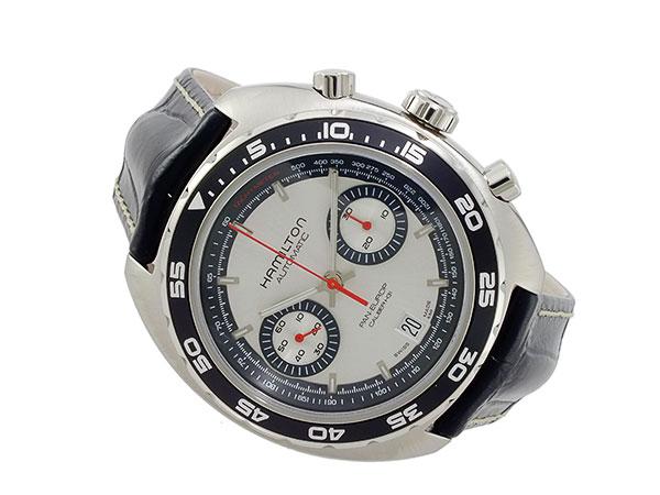 ハミルトン HAMILTON パンユーロ 自動巻き クロノグラフ 腕時計 メンズ H35756755-2