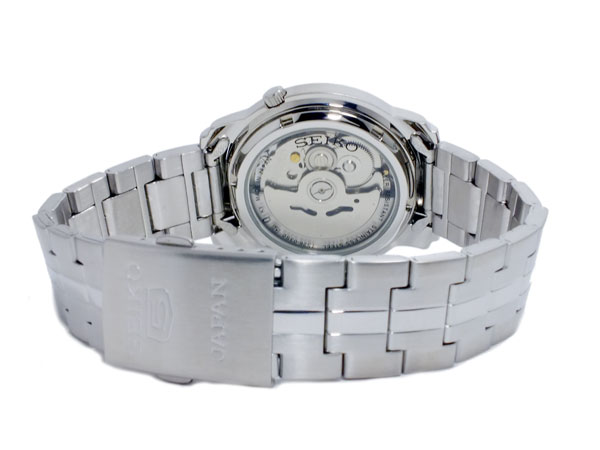 SEIKO 5 セイコー5 逆輸入 日本製 自動巻き メンズ 腕時計 SNKK65J1 シルバー メタルベルト-3