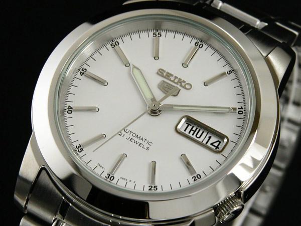 SEIKO 5 セイコー ファイブ 海外モデル 腕時計 自動巻き メンズ SNKE49K1 シルバー メタルベルト-1