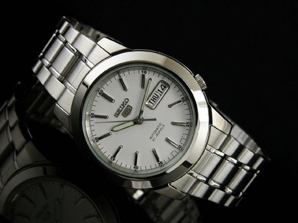 SEIKO 5 セイコー ファイブ 海外モデル 腕時計 自動巻き メンズ SNKE49K1 シルバー メタルベルト-2