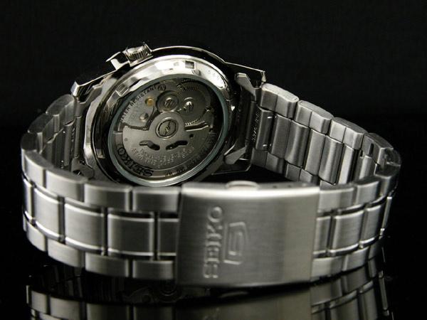 SEIKO 5 セイコー ファイブ 海外モデル 腕時計 自動巻き メンズ SNKE49K1 シルバー メタルベルト-3