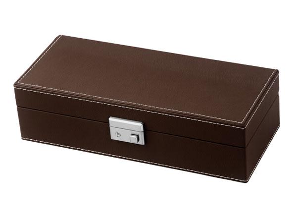 S.P.I ウォッチボックス/腕時計 収納ケース 5本収納 レザー調 SP80048LBR ブラウン-2