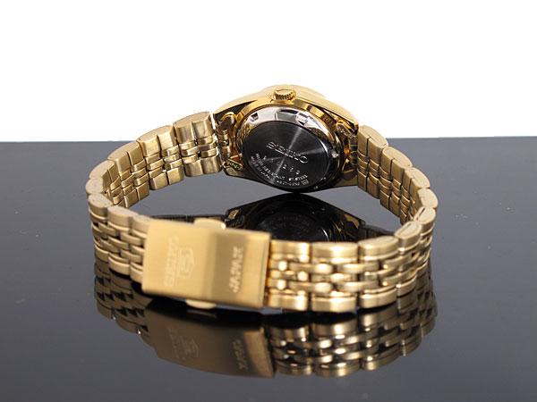 SEIKO 5 セイコー5 日本製 海外モデル レディース 自動巻き 腕時計 SYMA60J1 ゴールド メタルベルト ブレスレット-3