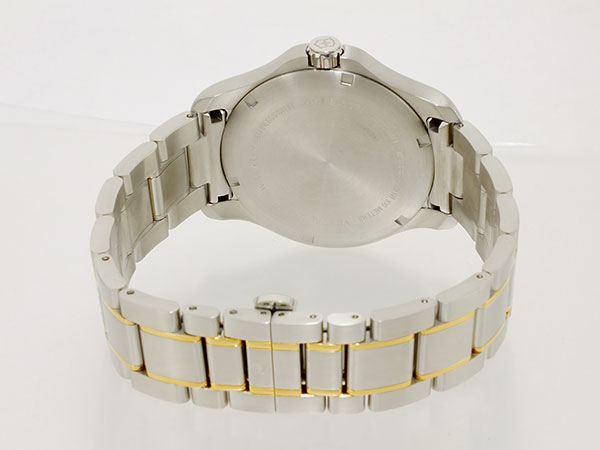 ビクトリノックス VICTORINOX スイス製 クォーツ メンズ 腕時計 241362 ホワイト ゴールド×シルバー メタルベルト-3