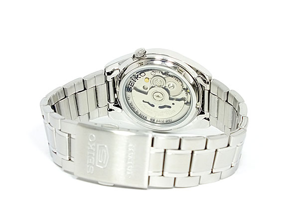 SEIKO 5 セイコー5 逆輸入 日本製 自動巻き メンズ 腕時計 SNKL41J1 ホワイト×シルバー メタルベルト-3