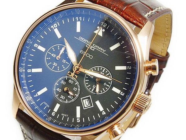 ヨーグ グレイ JORG GRAY シークレットサービス エディション クオーツ メンズ クロノグラフ 腕時計 JG6500-51 レザーベルト-1