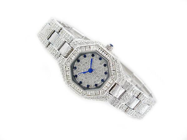 ルイラセール LOUIS LASSERRE 天然サファイア クオーツ レディース 腕時計 LL08SV-S シルバー×ブルー メタルベルト ブレスレット-2