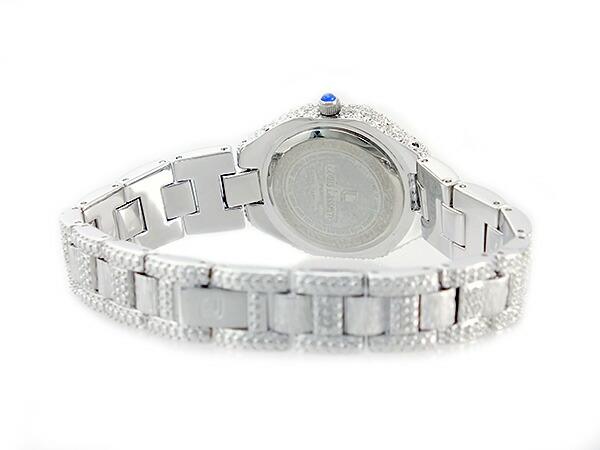 ルイラセール LOUIS LASSERRE 天然サファイア クオーツ レディース 腕時計 LL08SV-S シルバー×ブルー メタルベルト ブレスレット-3