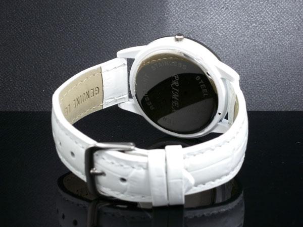 PRIMEX プリメックス バタフライ 蝶 腕時計 レディース PX-2541-WH ホワイト×シルバー レザーベルト-3
