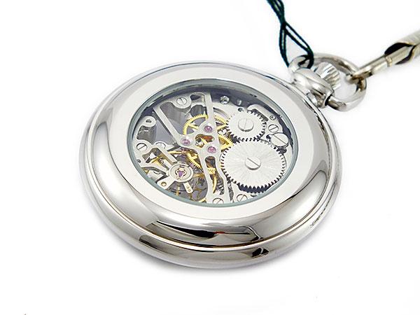 ブラウン BRAUN スケルトン 手巻き 懐中時計 シルバー ローマ数字 メンズ BN-925J-WW -3